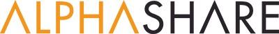 Alphashare Logo in Orange and Black